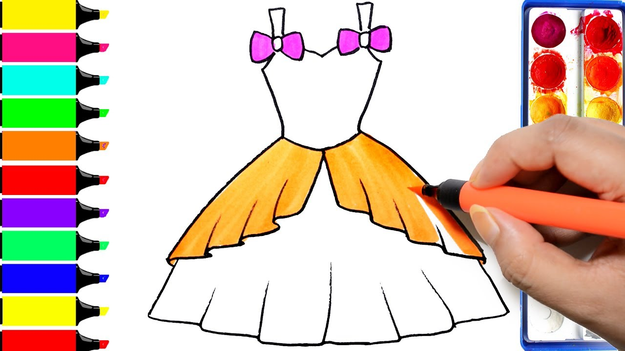 Dress clipart frock. Barbie how to draw