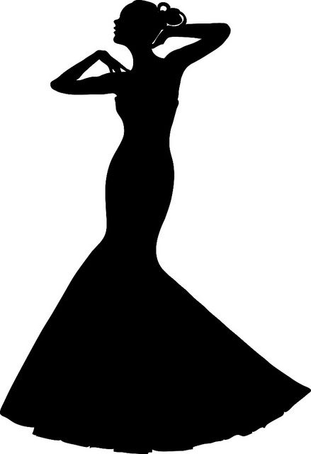bride clipart lady dress