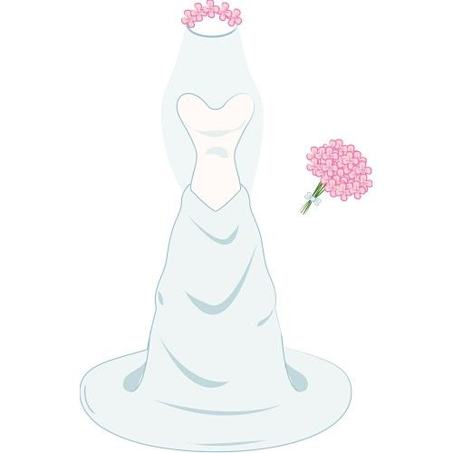 dress clipart wedding dress