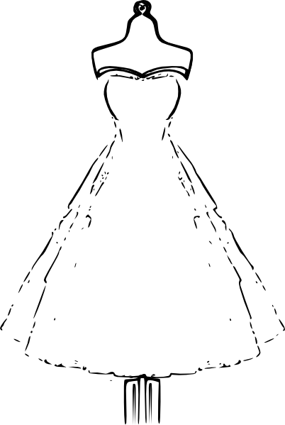 Dress outline png. Template clip art vector