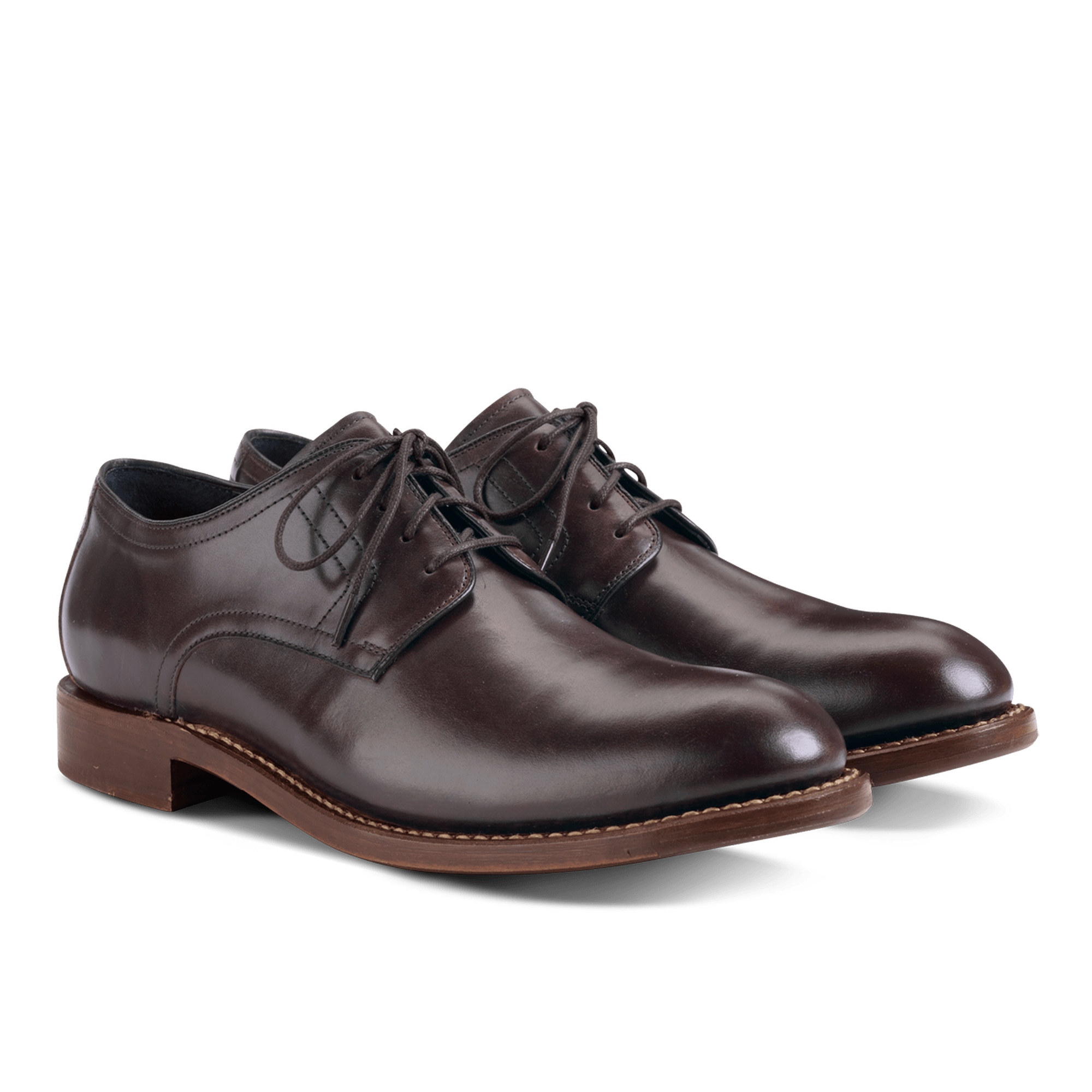 Dress shoe png. Pair of brown leather