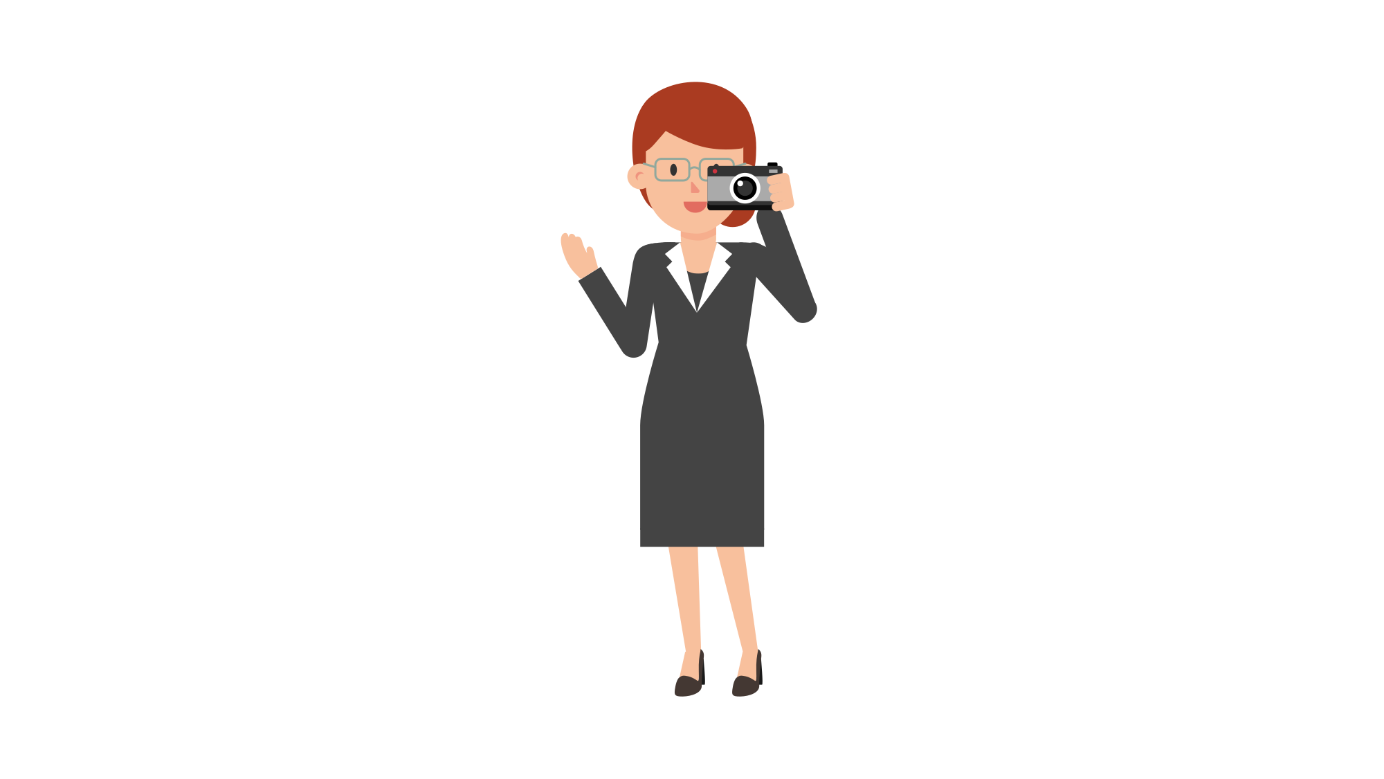 Dress svg cartoon. File redhead takes picture
