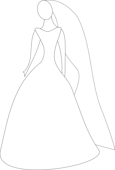 Dress svg animated. Bride in wedding clip