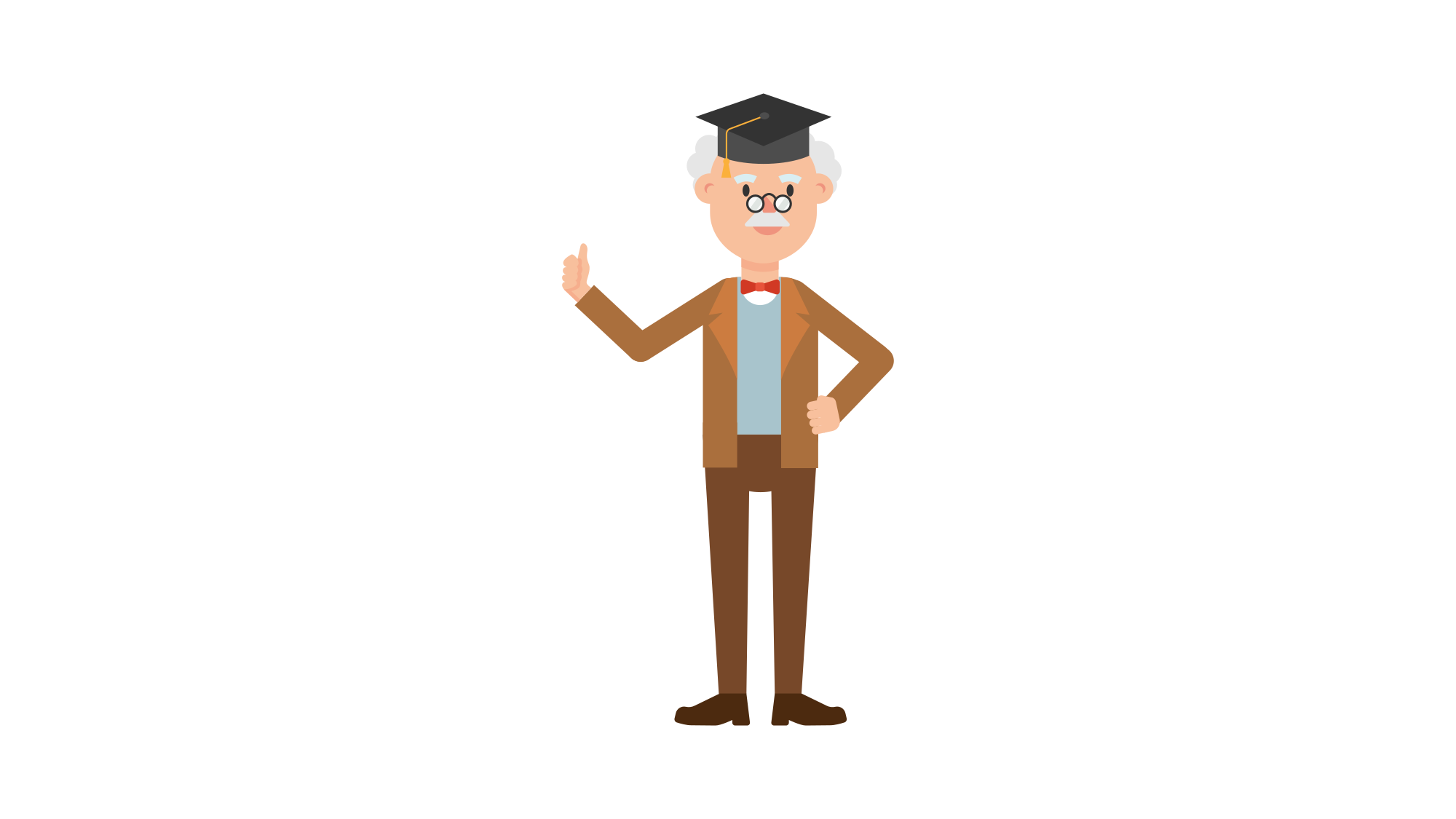 Dress svg cartoon. File professor wearing a