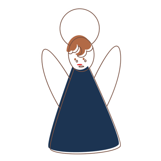 Dress svg cartoon. Angel icon transparent png