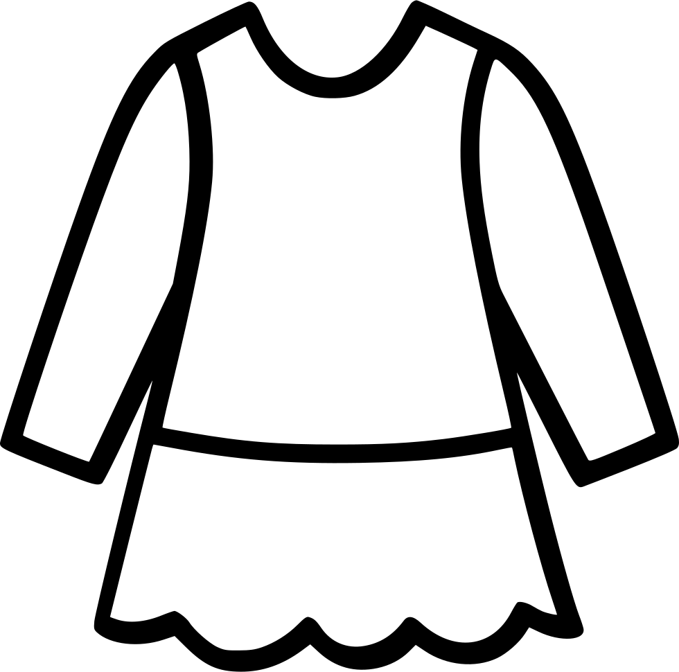 Dress svg drawing. Knitwear png icon free