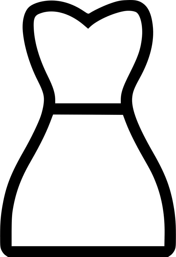 Dress svg drawing. Night png icon free