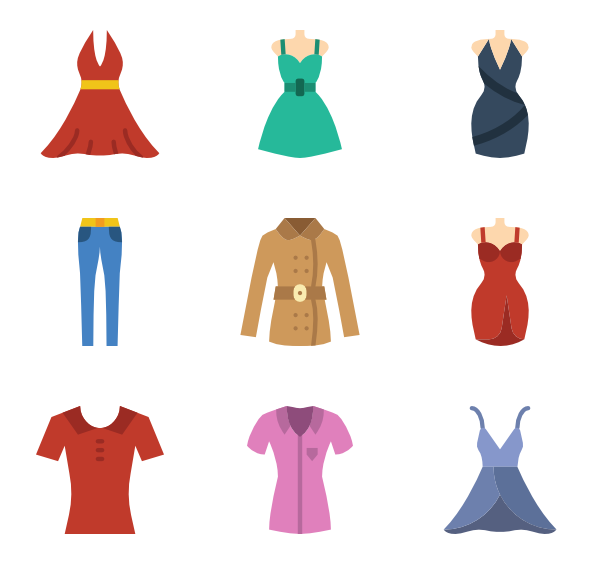Dress vector png. Woman clothes icon