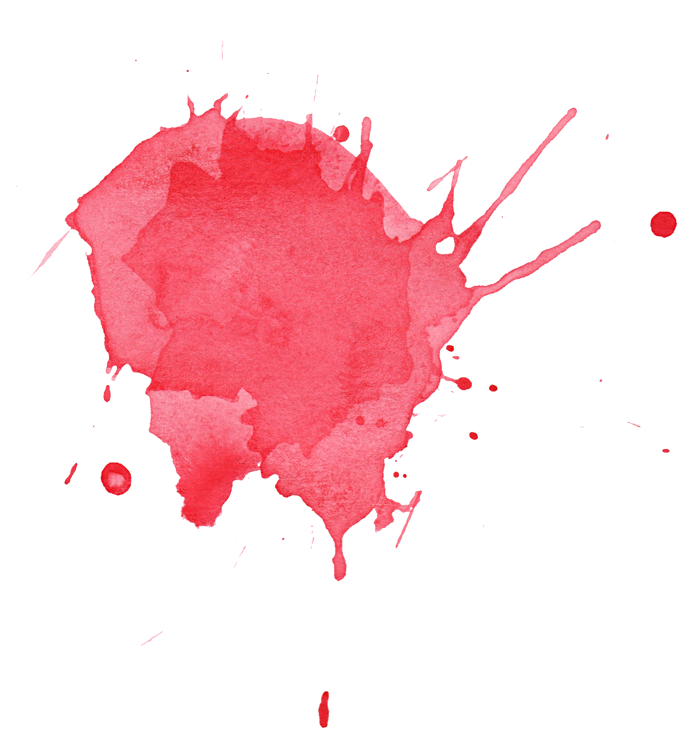 Water color splatter png. Red watercolor transparent
