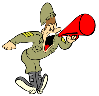 Dreads vector cartoon. Free drill instructor cliparts