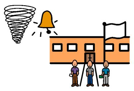 Drill clipart severe weather. Fire at school we