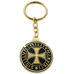 Dring clip key chain. Miniature rings medieval chains