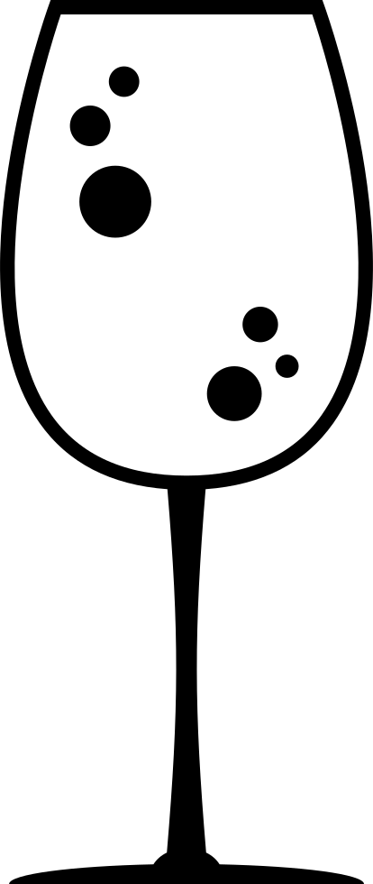 Drink bubbles png. Big glass with svg