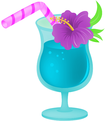 Drink clipart. Clip art hawaiian tropical