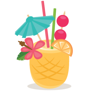 Drink clipart beach drink. Pineapple miss kate cuttables