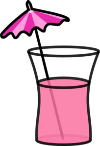 Drink clipart beach drink. Pink cocktail clip art