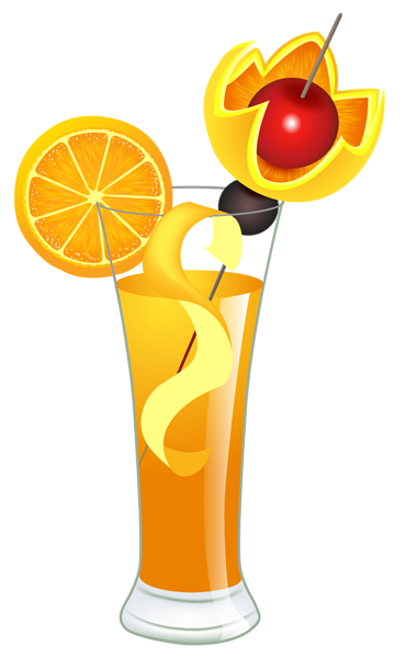 Drink clipart punch drink. Orange cocktail png picture