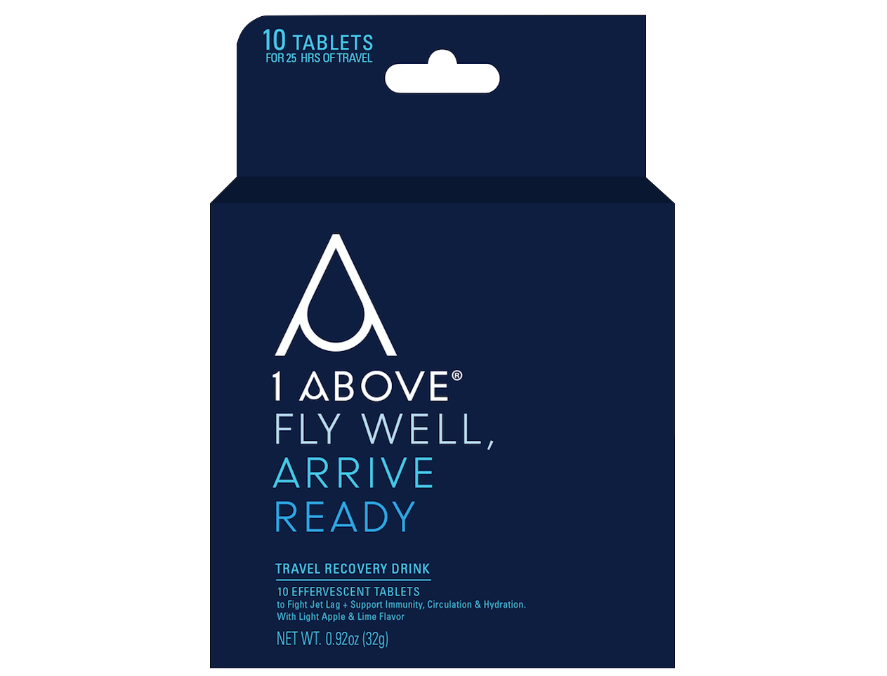 Drink from above png. Travel recovery effervescent tablets