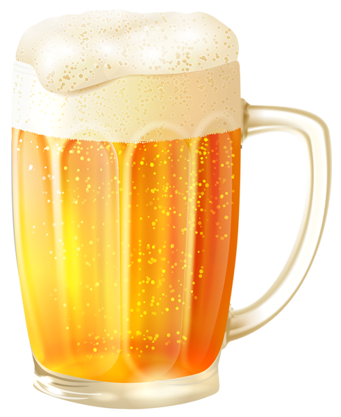 Transparent beer glass vector. Mug with png clipart