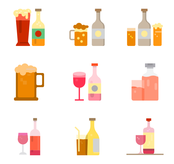 Rudolph vector glass. Beverage icons free drink
