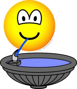 Drink water emoji png. Fountain emoticon drinking emoticons