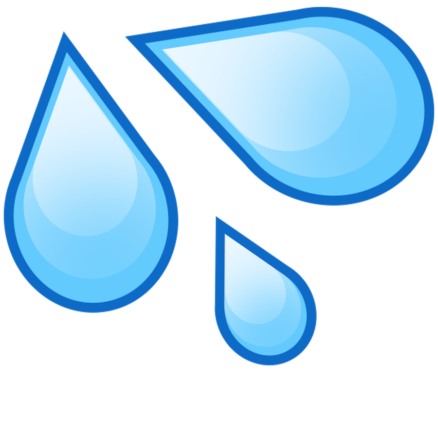 Drink water emoji png. Image with transparent background