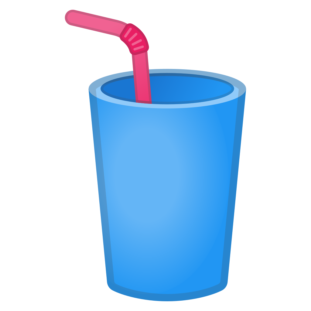 Drink with straw png. Cup icon noto emoji