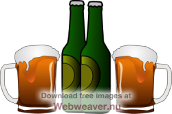 Drinking clipart. Alcohol bottle