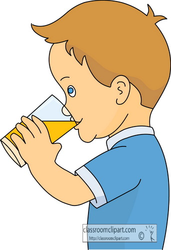 Drinking clipart. Boy