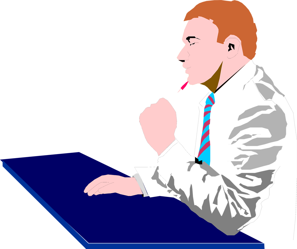 Person clipart thinking. Free business man images