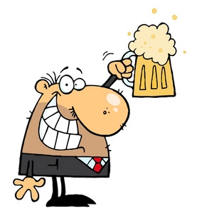 drinking clipart business man