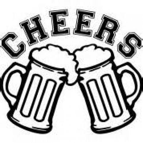 Drinking clipart cheer. Beer glass drawing at