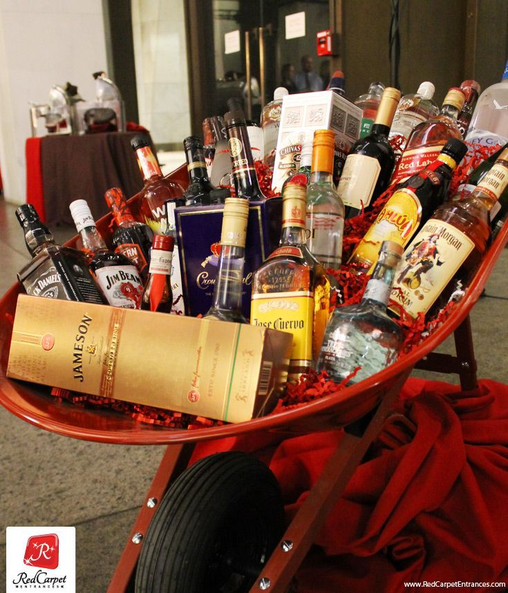 Drinking clipart liquor basket. Best auction item for
