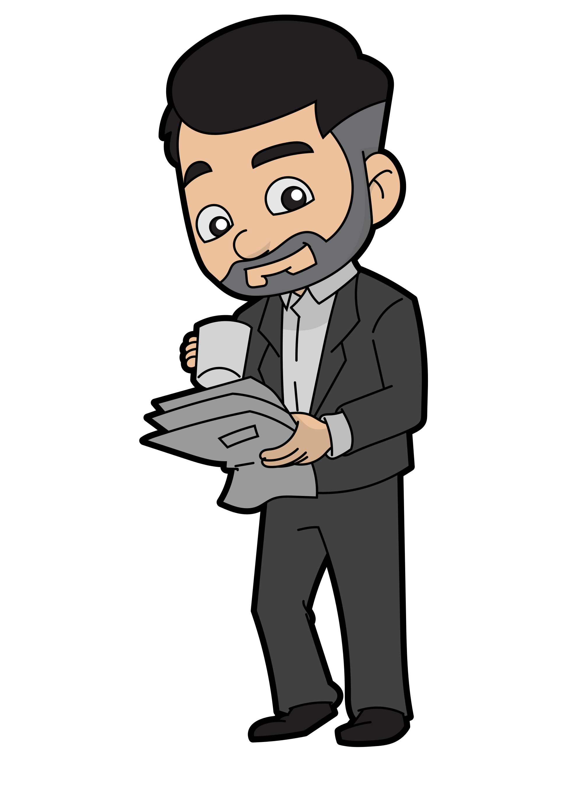 Drinking coffee png. File cartoon businessman svg