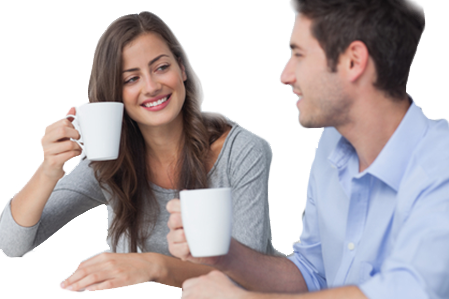 Couple drinking png. Coffee image
