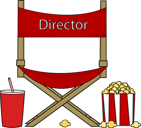 Drinks clipart popcorn. Directors chair and drink