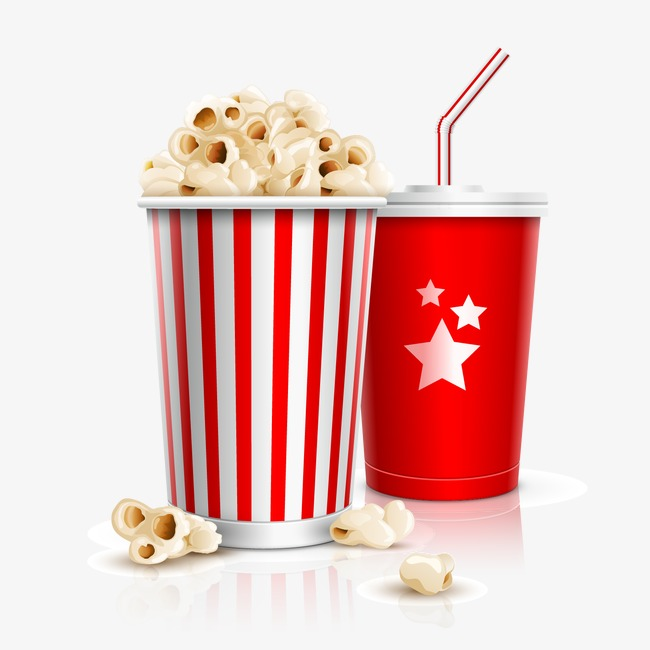 Drinks clipart popcorn. Coke drink png image