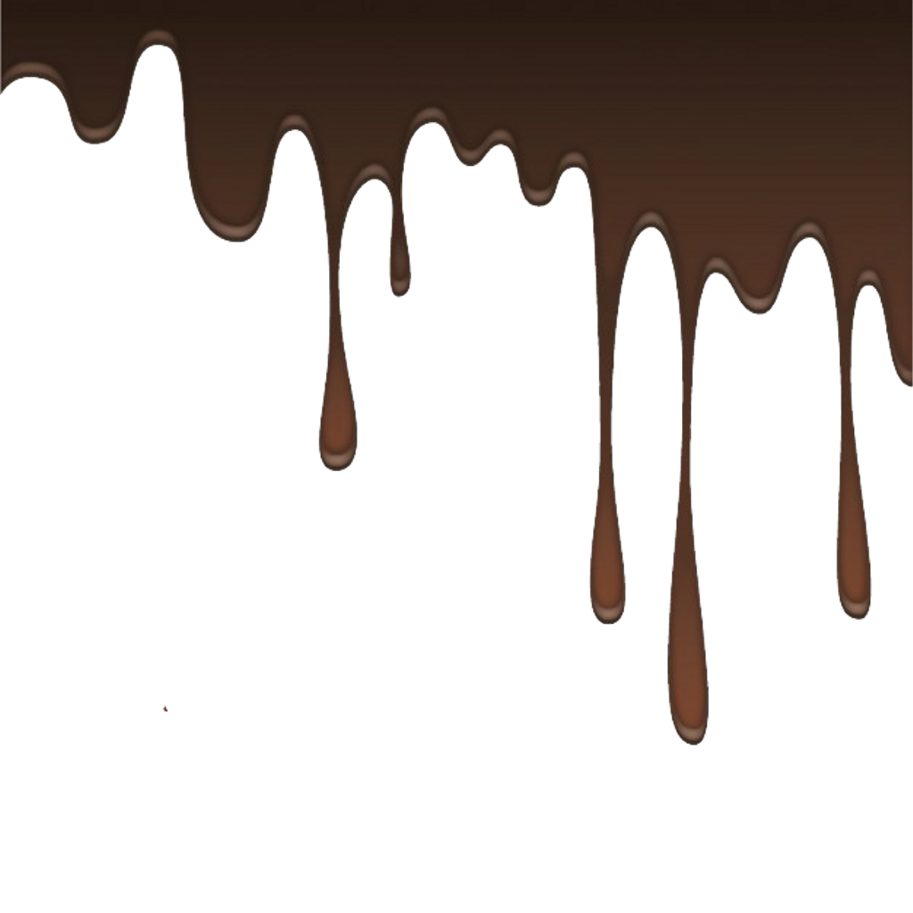 Dripping chocolate png. Melting liquid borders border
