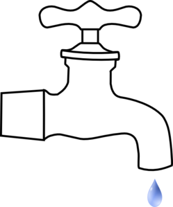 Dripping drawing clipart. Hose bib clip art