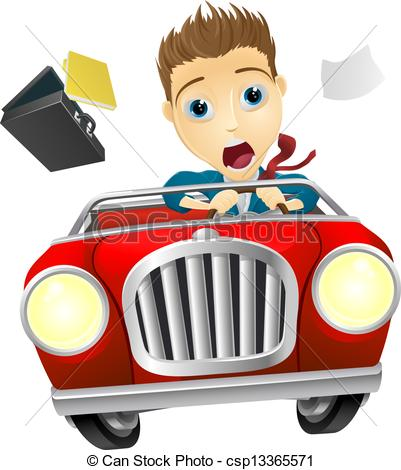 Driver clipart drive away. Businessman driving car fast graphic black and white download