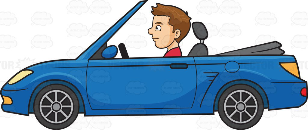 A man driving sports. Driver clipart automobile clip black and white library