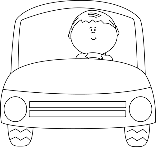 Drive clipart black. Car driving panda free