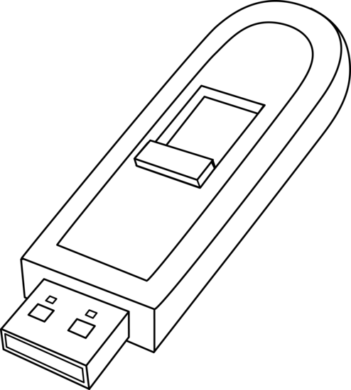 Computers drawing clip art. Black white jumpdrive clipart