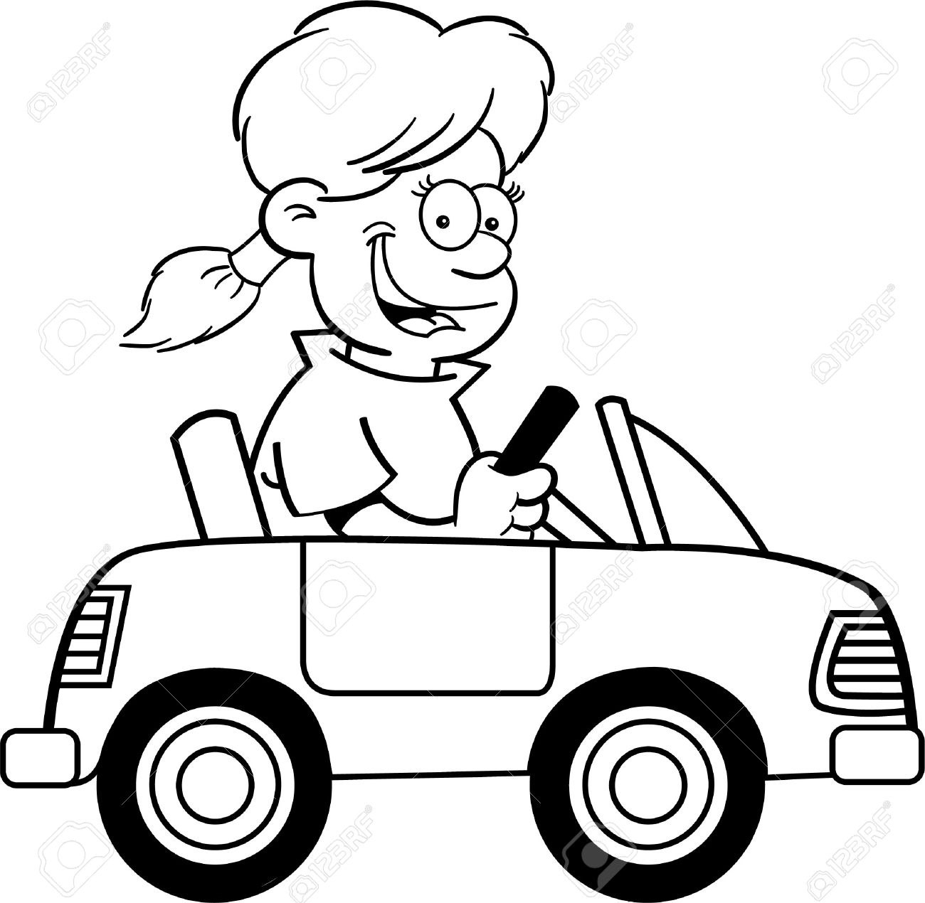 Drive clipart black. Driving car and white