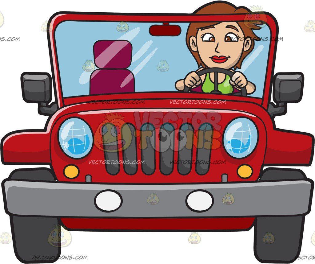 A woman rugged red. Driving clipart clip art free download