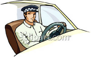Driver clipart. Picture of a taxi png royalty free stock