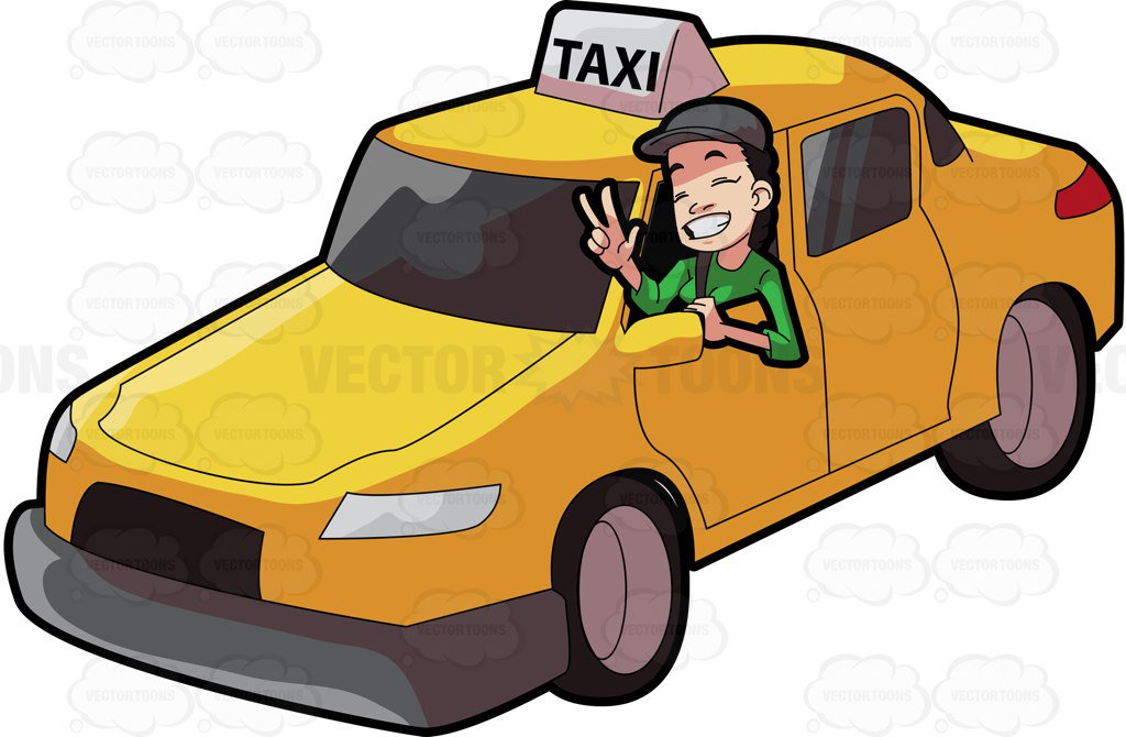 Driver clipart. A female taxi gesturing clip art freeuse stock