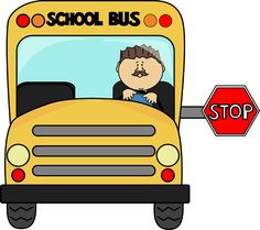 School minus com pesquisa. Driver clipart bus stop sign banner royalty free library