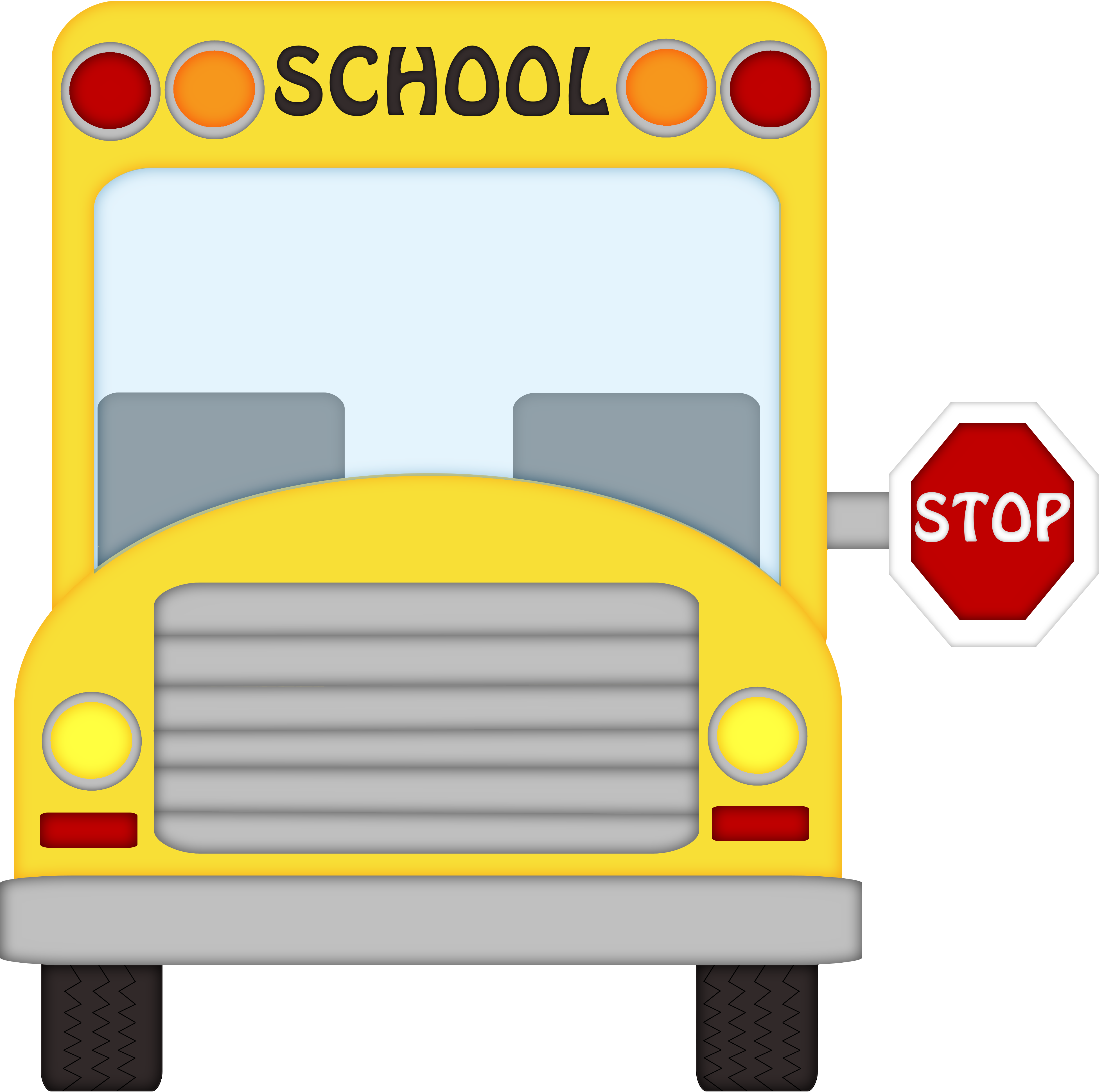 August clipart front bus. Free school graphics download