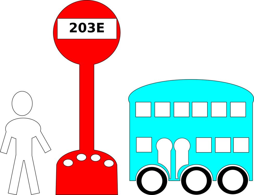 Stop clipart cartoon. Bus interchange school traffic
